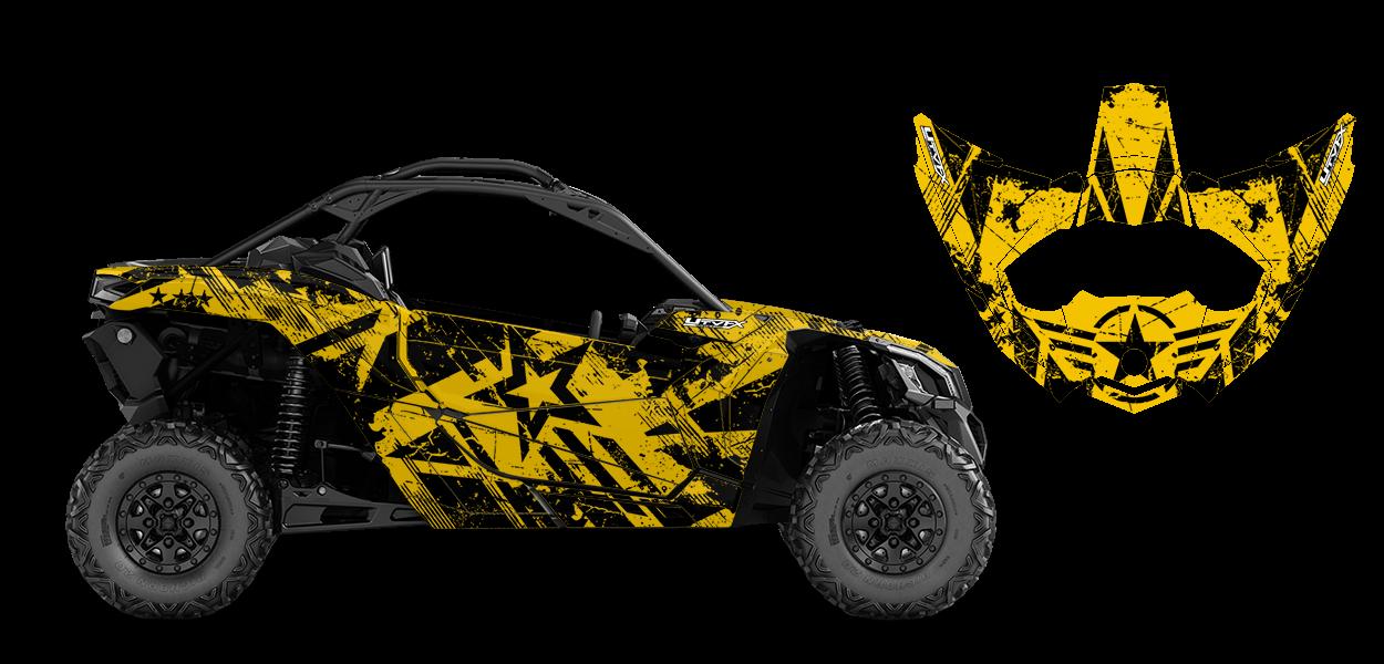 Wartorn Custom Design for Can Am MAVERICK X3 - 52029