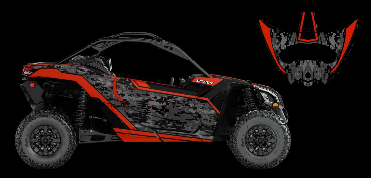 Digi Camo Custom Design for Can Am MAVERICK X3 - 77521