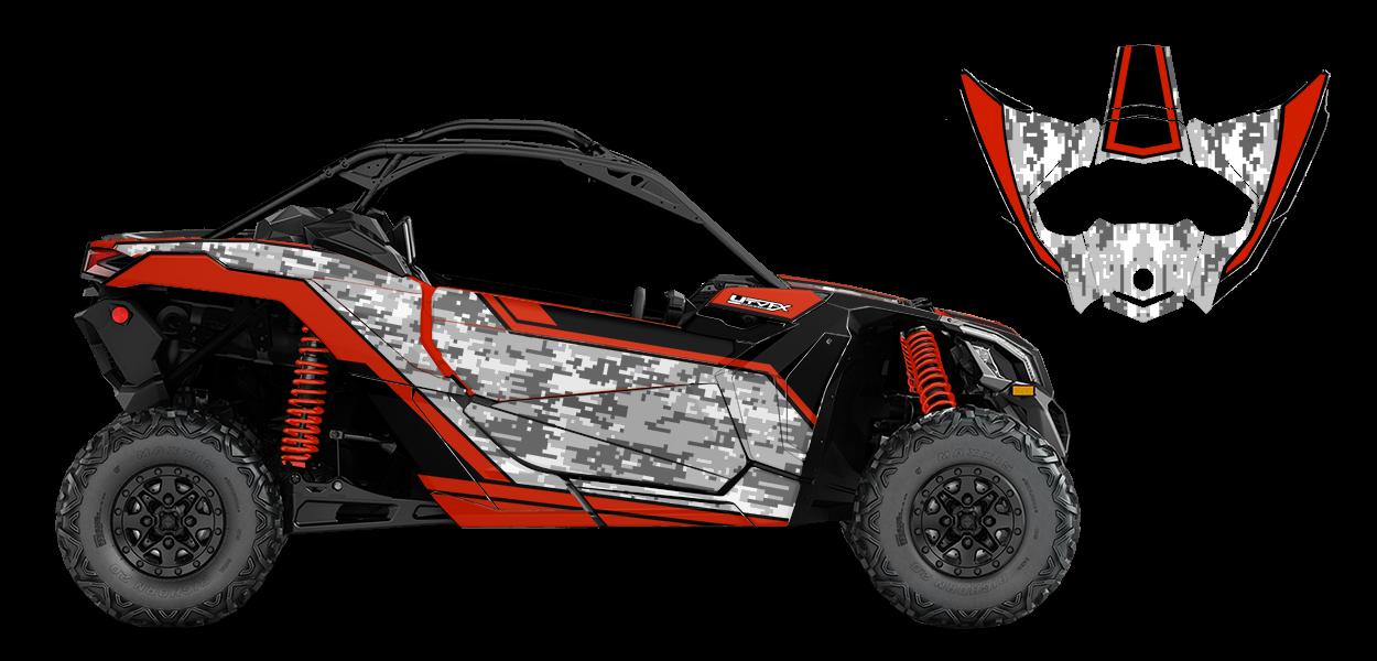 Digi Camo Custom Design for Can Am MAVERICK X3 - 77527